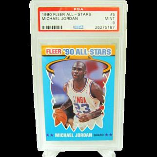 1990 Fleer All-Star #5 MIchael Jordan HOF PSA graded MINT 9++Investment 26275187