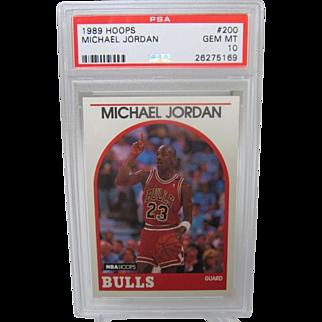 1989 Hoops #200 Michael Jordan HOF PSA graded Gem mint 10++++Investment 26275169