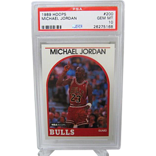 1989 Hoops #200 Michael Jordan HOF PSA graded Gem mint 10++++Investment 26275168