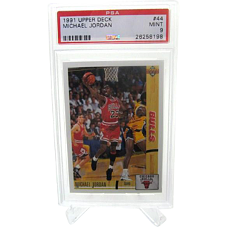 1991-92 upper deck #44 Michael Jordan PSA graded Mint 9+++ 26258198 look!!!!!