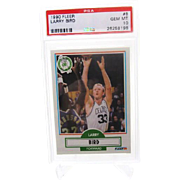 1990 Fleer #8 Larry Bird PSA graded Gem Mint 10+ 26258196 Invest!!