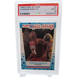 1989 Fleer All-Stars #4 Charles Barkley PSA graded MINT 9+++Investment 26258187