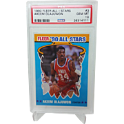 1990 Fleer All-Stars #3 Akeem Olajuwon PSA Graded GEM MINT 10+ 26314111 INVEST