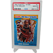 1990 Fleer All-Stars #11 Clyde Drexler PSA Graded GEM MINT 10+ 26314122 INVEST