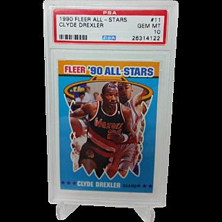1990 Fleer All-Stars #11 Clyde Drexler PSA Graded GEM MINT 10+ 26314122 INVEST