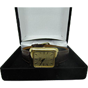 Mens vintage 1970s Junevia watch 17 jewel wrist watch 1145cal 18k gold dial
