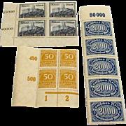 Antique German ww1 era 1920s stamps mint condition never hinged blocks lot number 6 deutsches reich