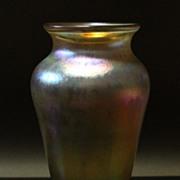 Vintage Roland Jahn Iridescent Luster Glass Vase ... c. 1982