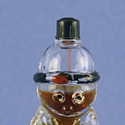 "Whimsical! Vintage, ""Chypre""  ""Charlie Chapman"" Shaped, Novelty Perfume Bottle by Kamaya & Co."
