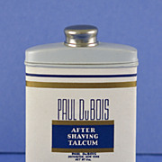 Circa 1920's, American, After Shaving Talcum Powder by Paul Du Bois in Original Tin