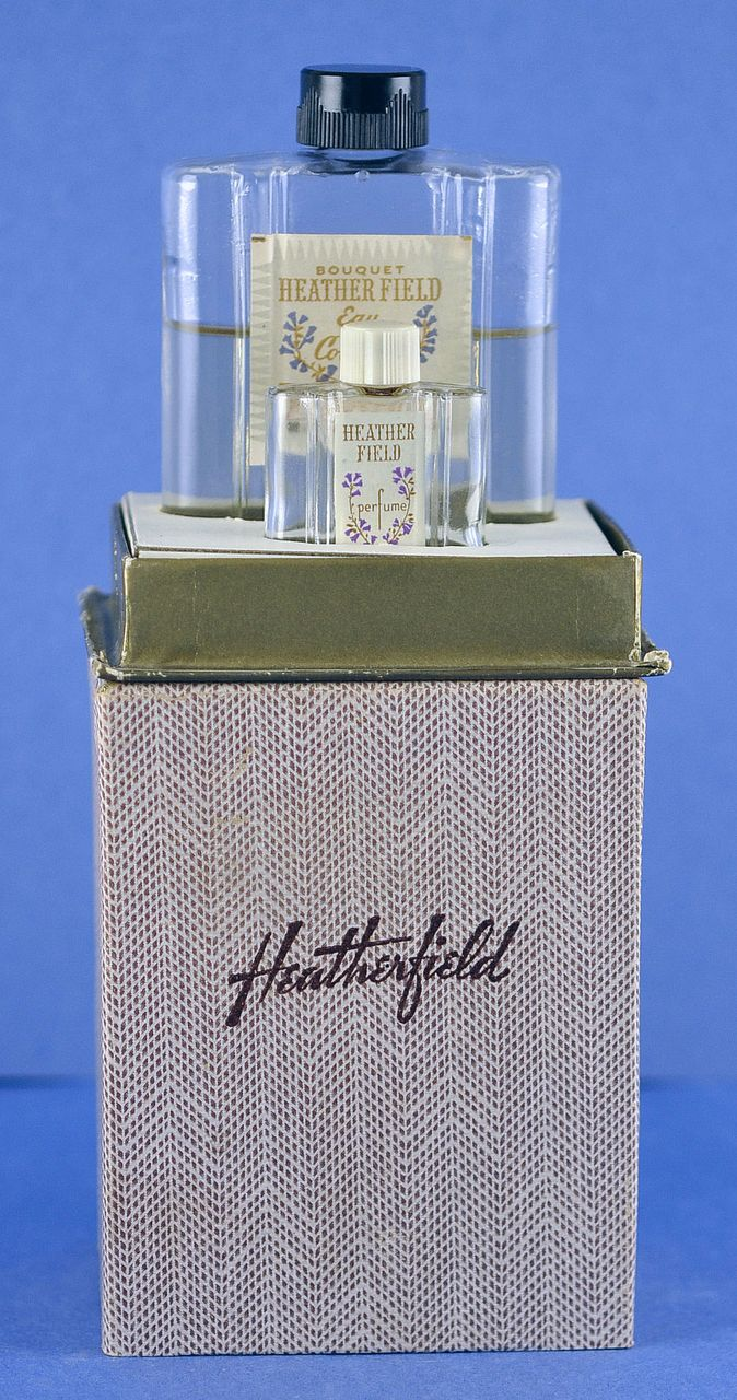"One of a Kind! American, Circa 1929, ""Heatherfield"" Presentation Set, TWO, (2) Commercial Perfume Bottles by Philip Maurice in Original, Fitted Box"