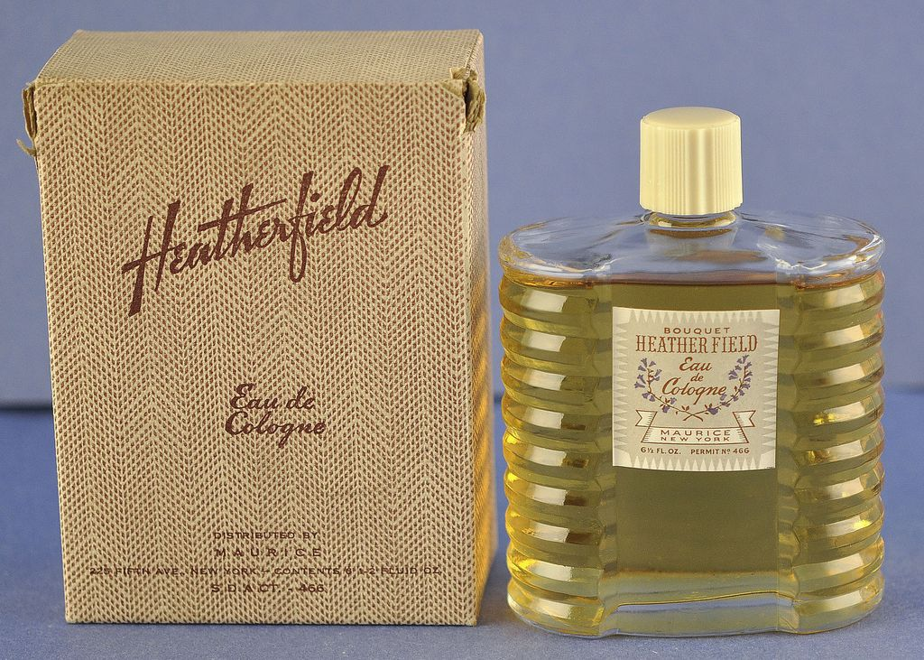 """American, Circa 1929, """"Heatherfield"""" Presentation Set, Commercial Perfume Bottle by Philip Maurice in Original, Fitted Box"""