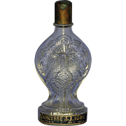 RARE! French, Circa 1922, Narcisse de Lioret, Peacock Shaped, Clear Glass Commercial Perfume Bottle by Louis Avenel