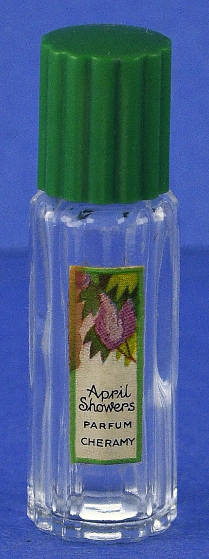 "Cute! Circa 1922, ""April Showers"" by Cheramy, Mini, Commercial Perfume Bottle"