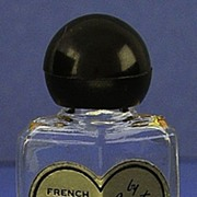 "Circa 1944, American, ""French Fragrance No. 4"", By Corot, Clear Glass, Deco Style, Mini, Commercial Perfume Bottle"
