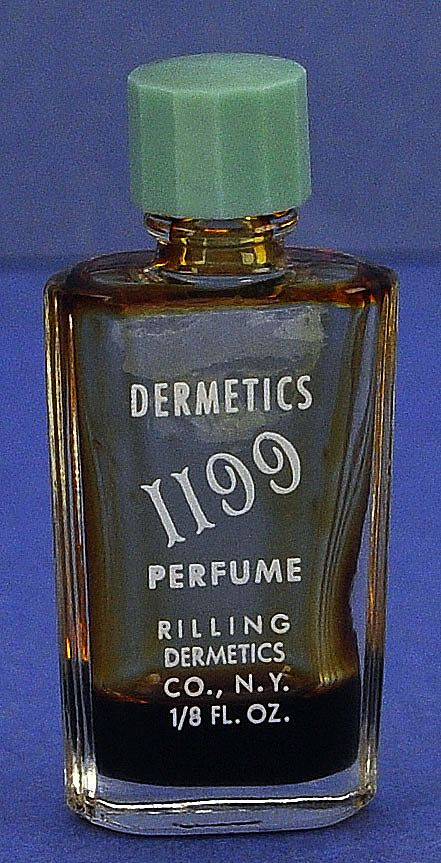 "Circa 1947, American, ""1195"" by Rilling Dermetics, Clear Glass, Mini, Commercial Perfume Bottle"