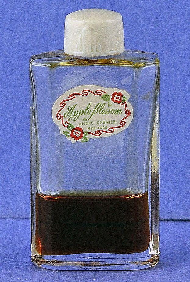 "Adorable! Circa 1930's, ""Apple Blossom"" by André Chenier, Mini, Commercial Perfume Bottle"