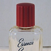 """Cheerful! Circa 1930's, American, """"Spice Essence Spray Cologne"""" by Maurice, Clear Glass, Mini, Commercial Perfume Bottle"""