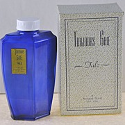 "Fantastic! American, Circa 1929, Art Deco Style, ""Toujours Gaie"" by Armand Duval, After Bath Body/Talc Powder Bottle/Jar with Original, Fitted Box"