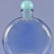 """Opulent! Circa 1931, French, """"Je Reviens"""" Made by R. Lalique for Worth, Blue Crystal Commercial Perfume Bottle"""