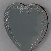 Delightful! Vintage, Aluminum, Heart  Shaped, Pin Cushion Safe Wheel
