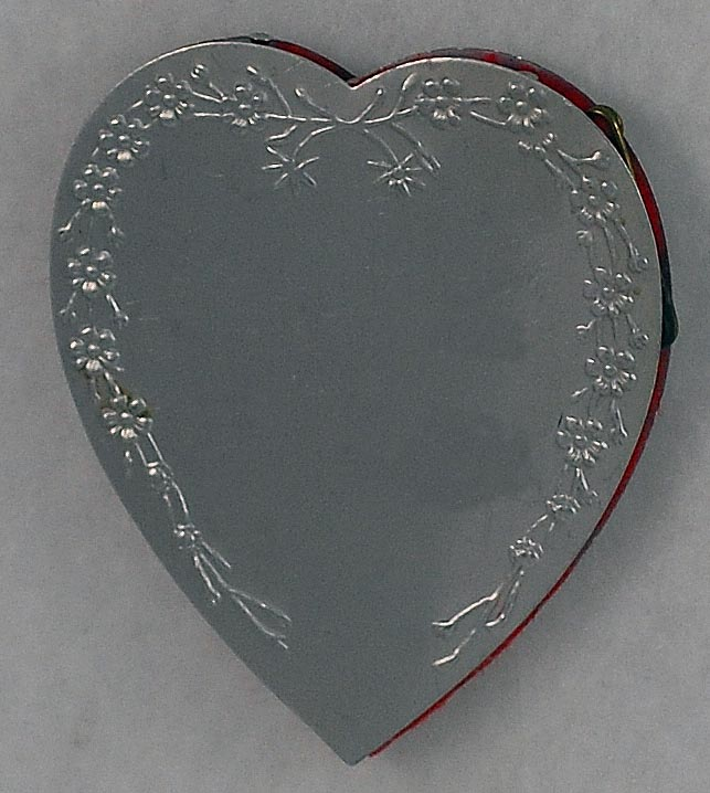 Delightful! Vintage, Aluminum, Heart  Shaped, Pin Cushion Safe Wheel