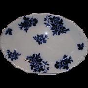 "Flow Blue Platter ""Gironde"" Pattern - Red Tag Sale Item"