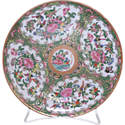 Antique Chinese Export porcelain Rose Medallion Plate