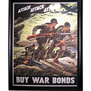 Original Vintage WWII war bond posters