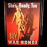 Original Vintage WWII War Bond Poster