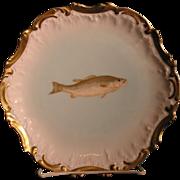 T&V Tressemann & Vogt Limoges France Porcelain game fish plate