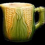 Beautiful American Majolica Corn creamer