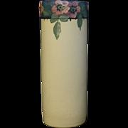Weller  Hudson cylindrical floral Decorated Vase