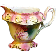 RS Prussia mini creamer with floral decorations