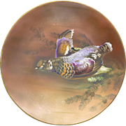 Outstanding Nippon Morimura Bros hand Painted Game Bird Charger
