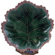 Antique Griffen, Smith & Hill, Etruscan Magnolia leaf dish.