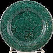 Rare High quality Antique Davenport Majolica grape leaf plate