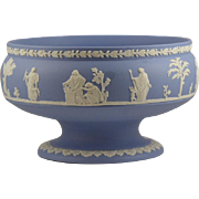 Medium Blue Wedgwood jasper-ware footed Imperial Bowl.