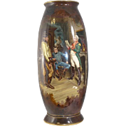 "Rare Monumental Early hand painted Royal Bonn Floor vase signed ""Beerbohm Nach Mussonier"""