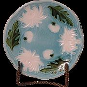 Vintage Schramberg Germany Majolica Floral Plate