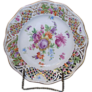 Schumann  Dresden Bavaria, Old Chateau Line Porcelain Reticulated Plate