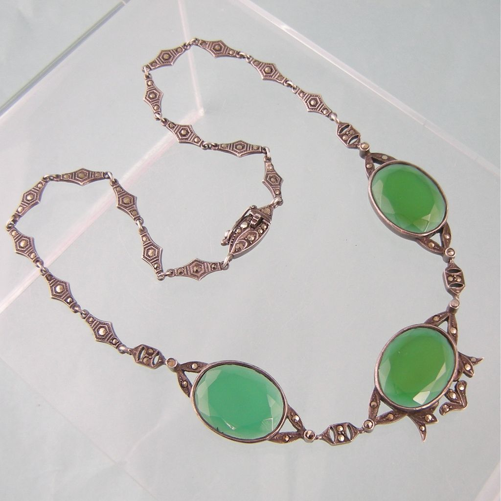 silver hammered sterling green bicolor gemstone necklace handmade chrysoprase pendant brown and teardrop lizardi stone paul by