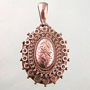 Elaborate Antique Victorian Sterling Silver Locket, 1885, Birmingham