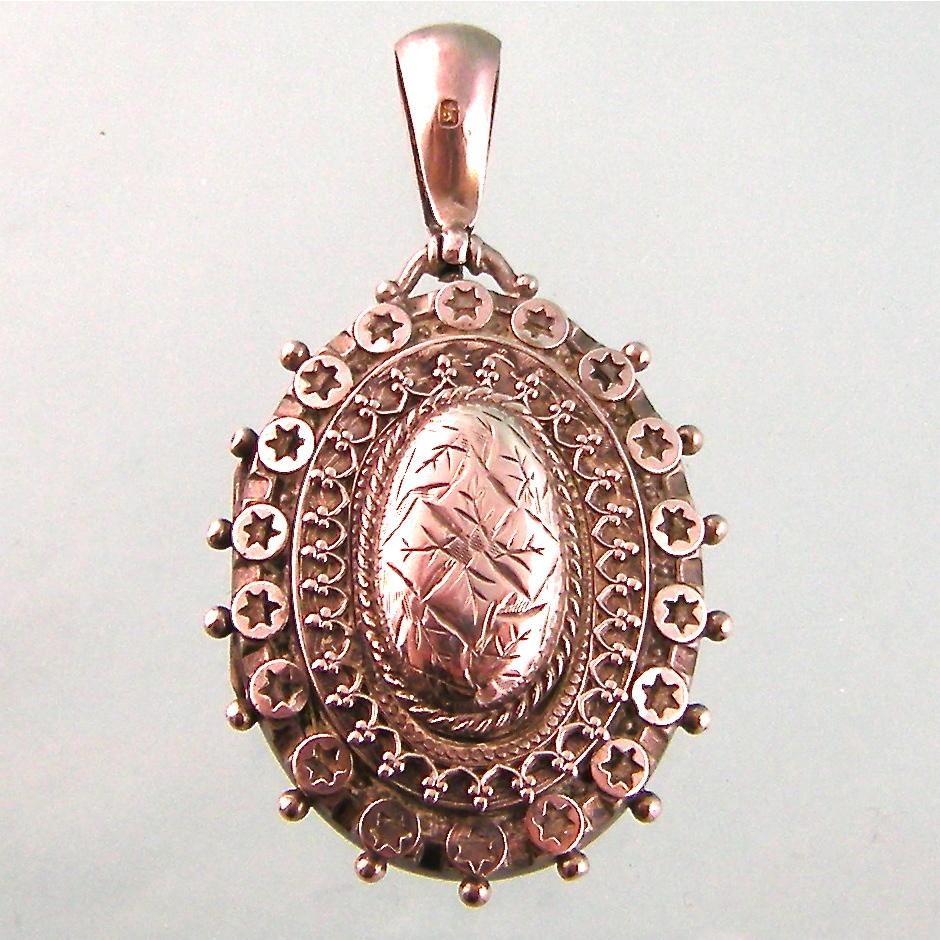 Elaborate Antique Victorian Sterling Silver Locket, 1885, Birmingham