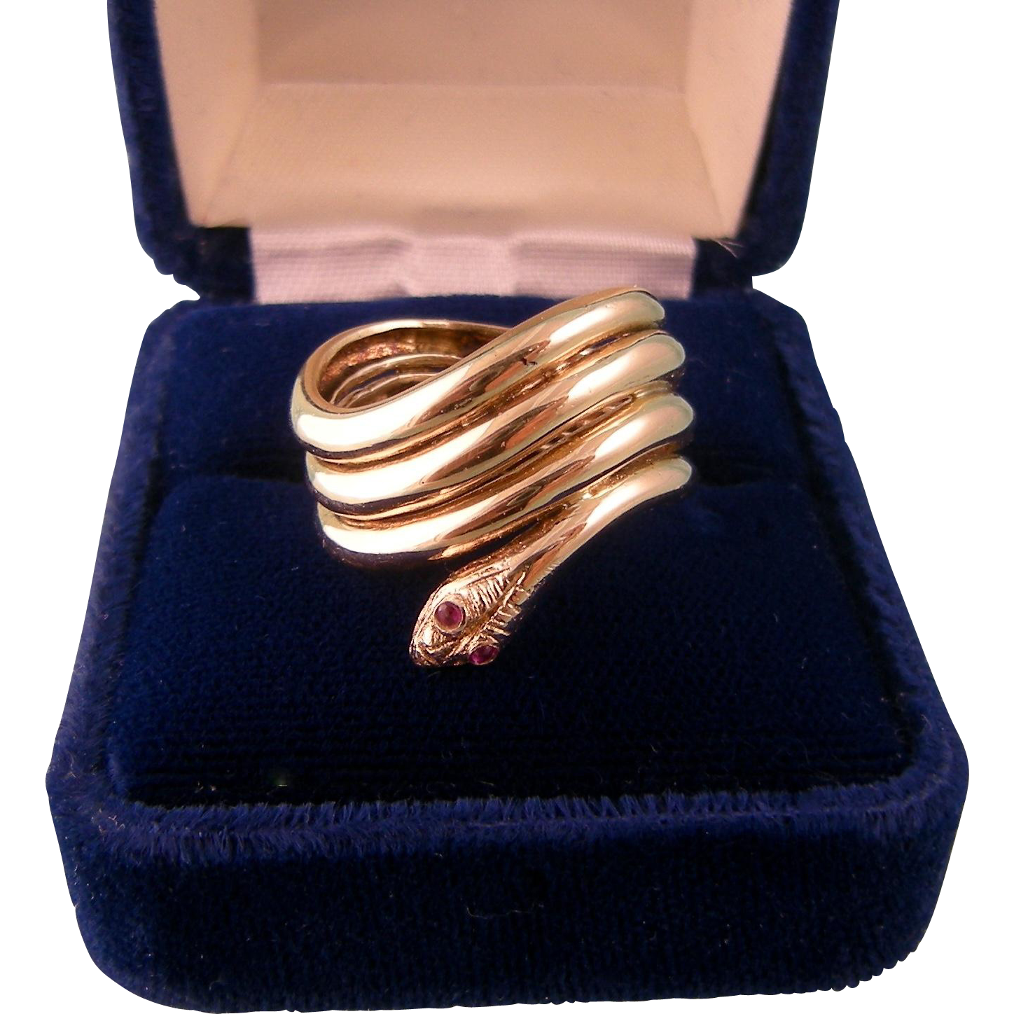 Vintage 14K Snake Ring, Very Wide, Stunning