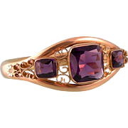 Antique Faux Amethyst Bangle Bracelet, Outstanding Design and Condition, Dated 1908
