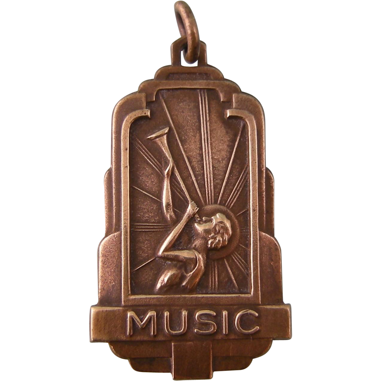 Art Deco Music Medal For Charm Or Pendant Sold On Ruby Lane