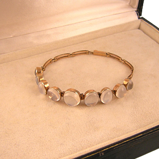 Art Deco Moonstone Bracelet in 9Ct Gold