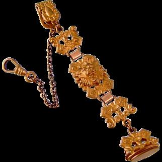 Antique Victorian Watch Chain with Demon Head