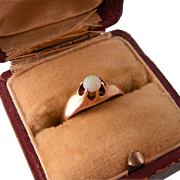 Antique Victorian Opal Ring in Gold, Size 5-1/2